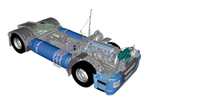 IVECO Stralis NP als 4x2 Sattelzugmaschine mit doppeltem LNG Tank