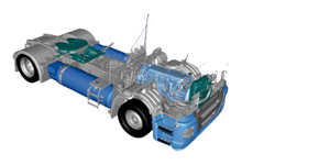 IVECO Stralis NP als 4x2 Sattelzugmaschine in Low Tractor Ausführung mit doppeltem LNG Tank