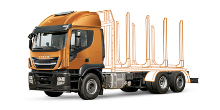 IVECO Stralis X-WAY für den Holztransport